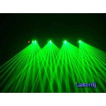 Laser Verde 4 Saidas Laserdj - Dmx Multi Efeitos -leque Onda