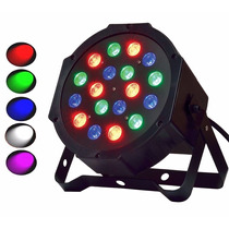 Kit 6 E78 Canhão 18 Led 64 Par Rgb Dmx Strobo Digital Luz