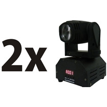 Kit 2 Mini Moving Head Beam Spot Led Cree 10w Rgbw