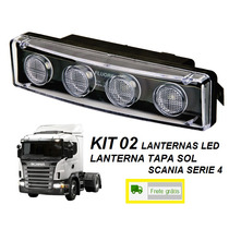 Kit C/ 2 Lanterna Tapa Sol Caminhão Scania Serie 4 P G R Led