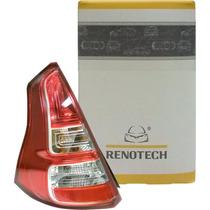 Lanterna Tras Esquerda Sandero (2011-2013) - Fundo Vermelho