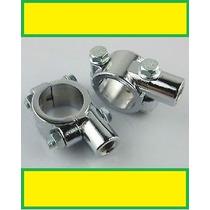 Abraçadeiras Cromadas P/retrovisor-guidão De 1 (25mm)