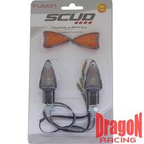 Mini Pisca Carbono Scud Mod Fusion C/ Fume Lente Extra Par