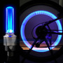 Lampada De Roda Carro,bicicleta Moto Azul 4 Peças