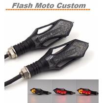 Setas Piscas Leds Moto Tripolar Luz De Pisca/lanterna/freio