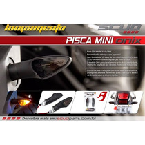 Pisca Mini Seta Onix Moto Preto Lente Fume 2 Pares Scud