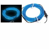 Fita Fio Linha Led Neon Luz Ambiente Moldável 3 Metros Azul