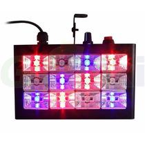 Strobo Led Dj Iluminação Rgb Colorido Profissional 12 Leds