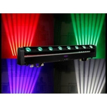 Ribalta Moving Beam C/ Movimento Tilt 8 Leds Rgbw Quadri-led