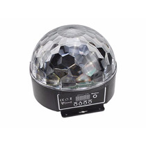 Meia Bola Maluca Led Rgb 18-24w Dmx Cristall Ball 6 Cores