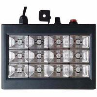 Strobo Ritmico 12 Leds Rgb 15w Dj Iluminação Profissional