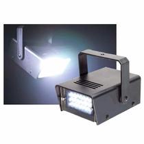 Mini Strobo 24 Led Efeito Pisca Luz Flash Dj Iluminação Show