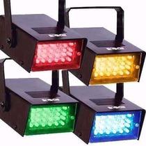 Kit 4 Mini Strobo Led Colorido Iluminação Sequencial Skyshow