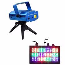 Kit Festa Iluminação Strobo Rgb Laser Projetor Bivolt - K04