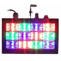 Stroboritmico12 Ledsrgb 15w Metal Bivolt Dj Iluminação
