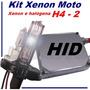 Kit Xenon Moto H4-2 Xenon E Halógena Em Bh 6000 8000k 10000k