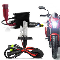 Kit Xenon Moto Slim Digital 6000k H4-2 Ybr Cg Titan 125 150