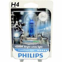 Lâmpadas Philips Extraduty Crystalvision Moto H4 35w - 4300k