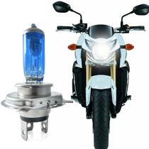 Lâmpada P/ Motos H4 60/55w Efeito Xenon 4200k Super Branca