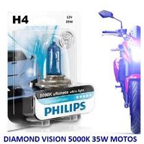 Lâmpada De Farol H4 35w Diamond Vision Philips 5000k