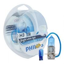 Lâmpada Carro Philips Crystal Vision Ultra 4.300k H3 Xenon