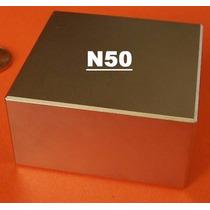 Bloco Ímã Neodímio 01 Pç 2 X2 X1 Pol N50 Suporta 150 Kgs