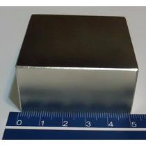 Imã De Neodímio / Super Forte / 50,8mm X 50,8mm X 25,4mm N50