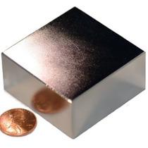 Super Ímã Neodímio 01 Pç 2 X2 X1 Pol N50 Suporta 150 Kgs