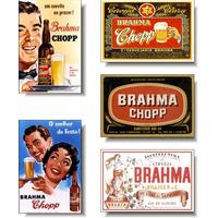 Brahma Retro - Kit Com 05 Imãs De Geladeira