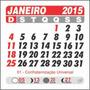 Calendário Bloco Para Ímã 2015 1000 Unidades