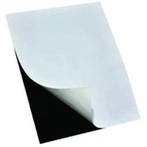 50 Folhas Manta Magnética Imã P/geladeira Adesivada 0,3mm A4