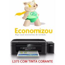 Epson Multifuncional L375 Com Bulk + 400ml Tinta Corante