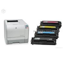 Impressora Hp Laserjet Cp1215 + 4 Toners Vazios Semi-nova