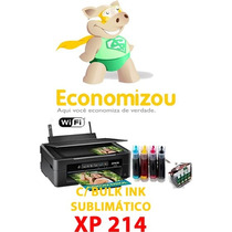 Epson Xp214 Bulk Sublimático+4 Cart.+frete Grátis+desconto