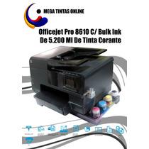 Officejet Pro 8610 C/ Bulk Ink De 5.200 Ml De Tinta Corante