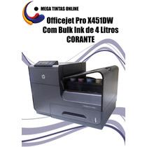 Officejet Pro X451dw Com Bulk Ink De 4litros Corante