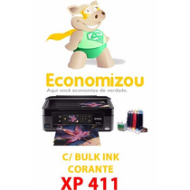 Impressora Epson Xp411 C/bulk+400ml+4 Cartuchos Originais!!!