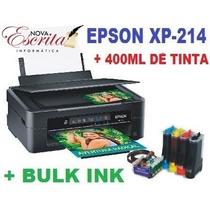 Impressora Multifuncional Epson Xp214 Bulk Ink 400ml Tinta