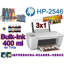 Loucura Nova Hp 2546 C/ Wi-fi + Bulk Ink +400ml Tinta Gratis