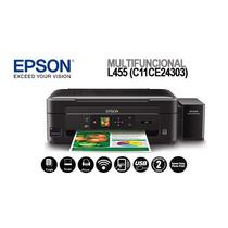 Multifuncional Sublimática Epson Eco Tanque L455 Wi-fi + Vi