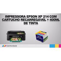 Impressora Epson Xp 214 C/ Cart. Recarregável 400m De Tinta