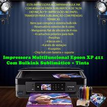 Impressora Epson Xp 411 + Bulk Ink + Tinta Sublimática