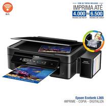 Multifuncional Ecotank L365 Epson, Wifi, Iprint, 110/220v