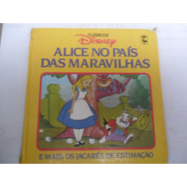 Clássicos Disney Alice No País Das Maravilhas Livro Fita K7