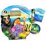 Maleta Infantil 8 Livros Animais Da Criacao Biblica +dvd