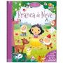 Livro Infantil Divertidos Contos Com Adesivos Branca De Neve