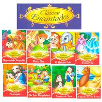 Coleção 8 Livros Clássicos Encantados Branca Neve Peter Pan