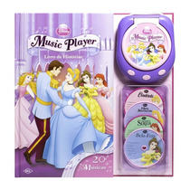 Livro De Histórias Music Player Princesas Disney Dcl