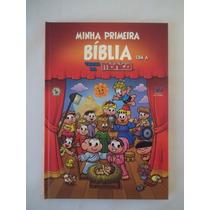 Minha Primeira Bíblia Com A Turma Da Mônica Infantil Pequena