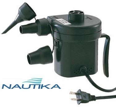 Inflador / Bomba Elétrica Nautika - Colchão - Infláveis
